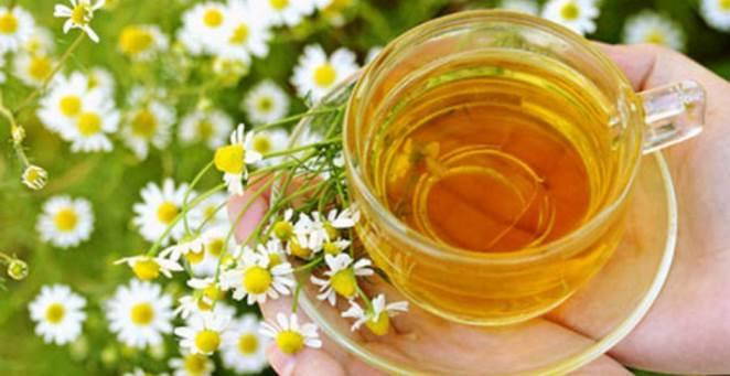 Чай с ромашкой при конъюнктивите