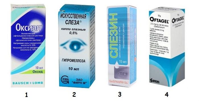 препараты при сухости глаз
