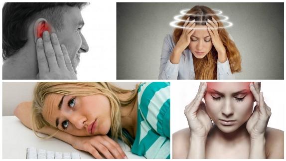 Головокружение, сонливость, боль в голове и шум в ушах