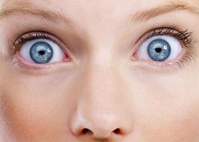 Широко раскрытые глаза в удивлении