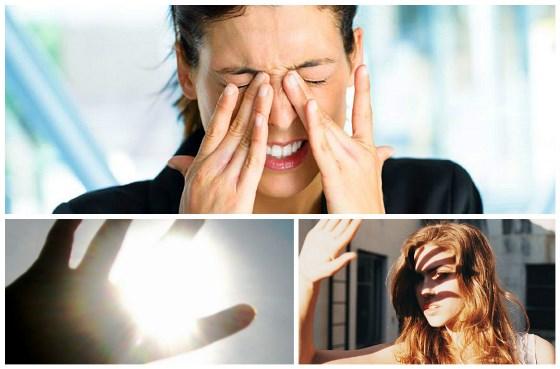 Негативная реакция глаз на свет