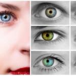 Изменения оттенка глаз