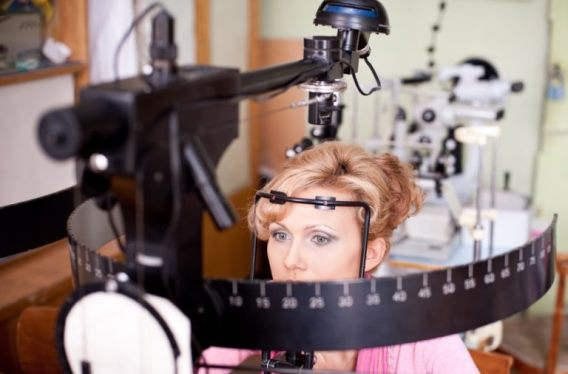 Определение поля зрения человека